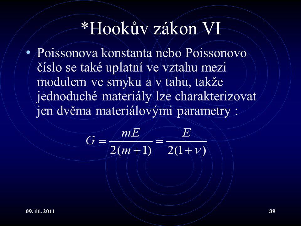 *Hookův zákon VI