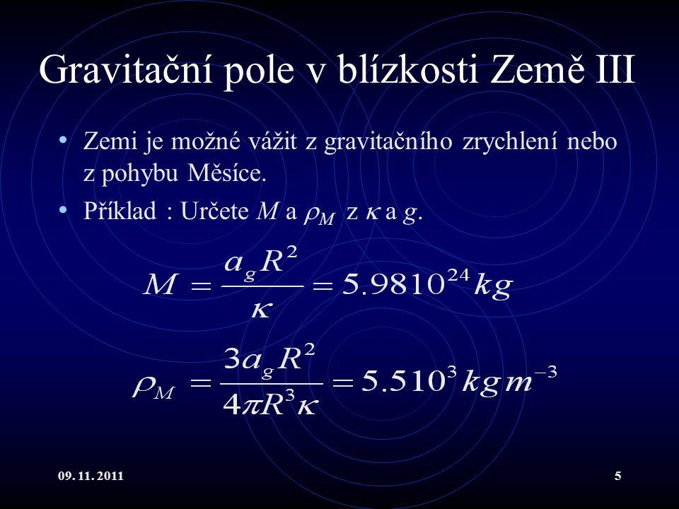 Gravitační pole v blízkosti Země III