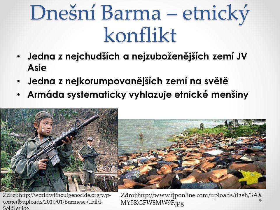 Dnešní Barma – etnický konflikt