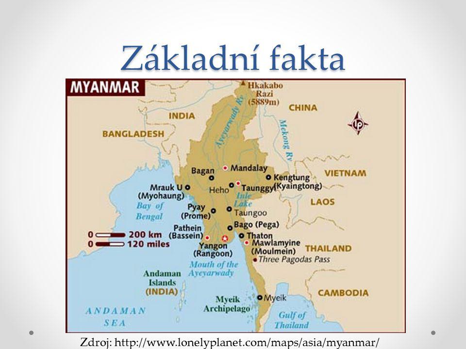 Základní fakta Zdroj: http://www.lonelyplanet.com/maps/asia/myanmar/