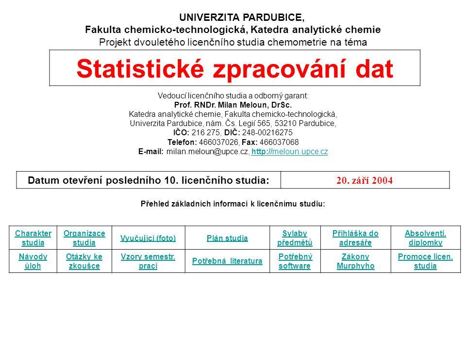Statistické zpracování dat