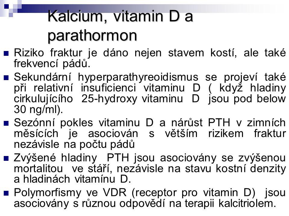 Kalcium, vitamin D a parathormon