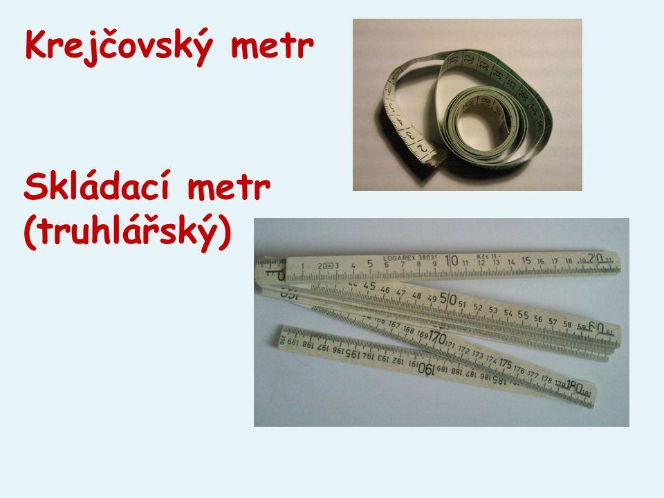 Krejčovský metr Skládací metr (truhlářský)