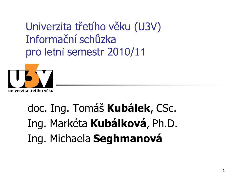 doc. Ing. Tomáš Kubálek, CSc. Ing. Markéta Kubálková, Ph.D.