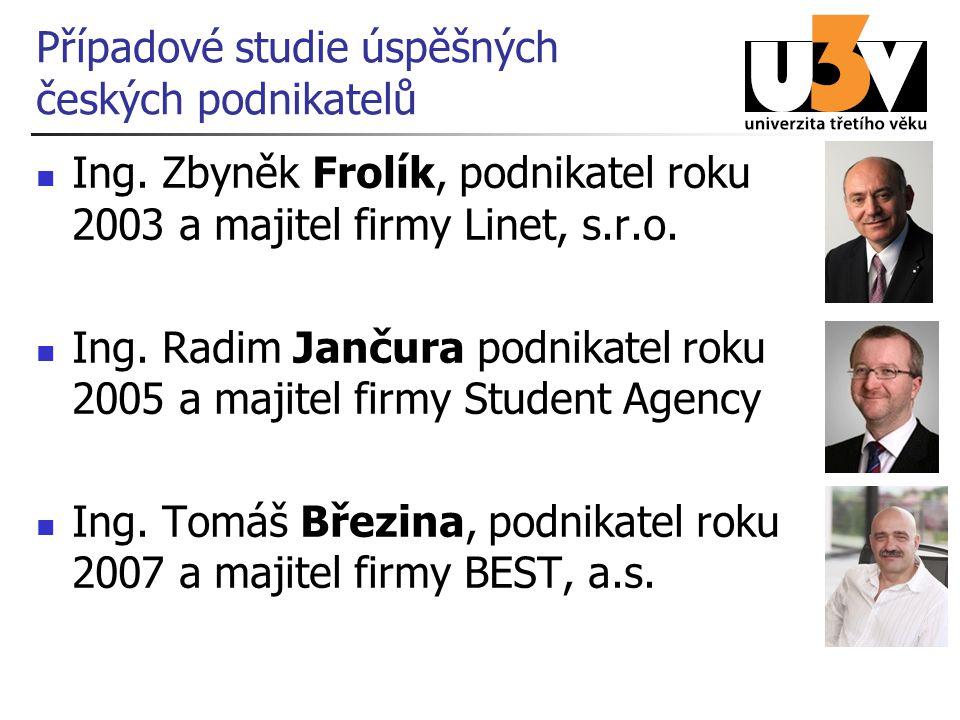 Případové studie úspěšných českých podnikatelů