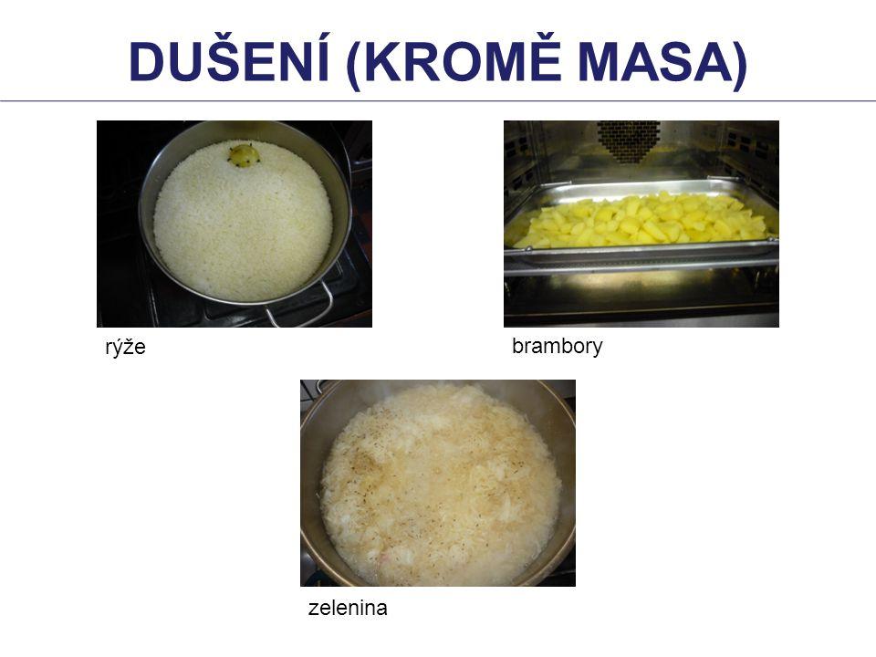 DUŠENÍ (KROMĚ masa) rýže brambory zelenina