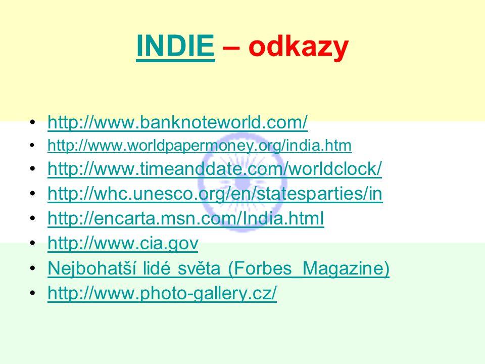 INDIE – odkazy http://www.banknoteworld.com/