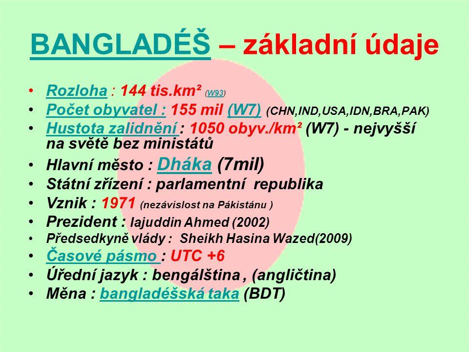 BANGLADÉŠ – základní údaje