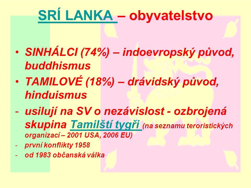 SRÍ LANKA – obyvatelstvo
