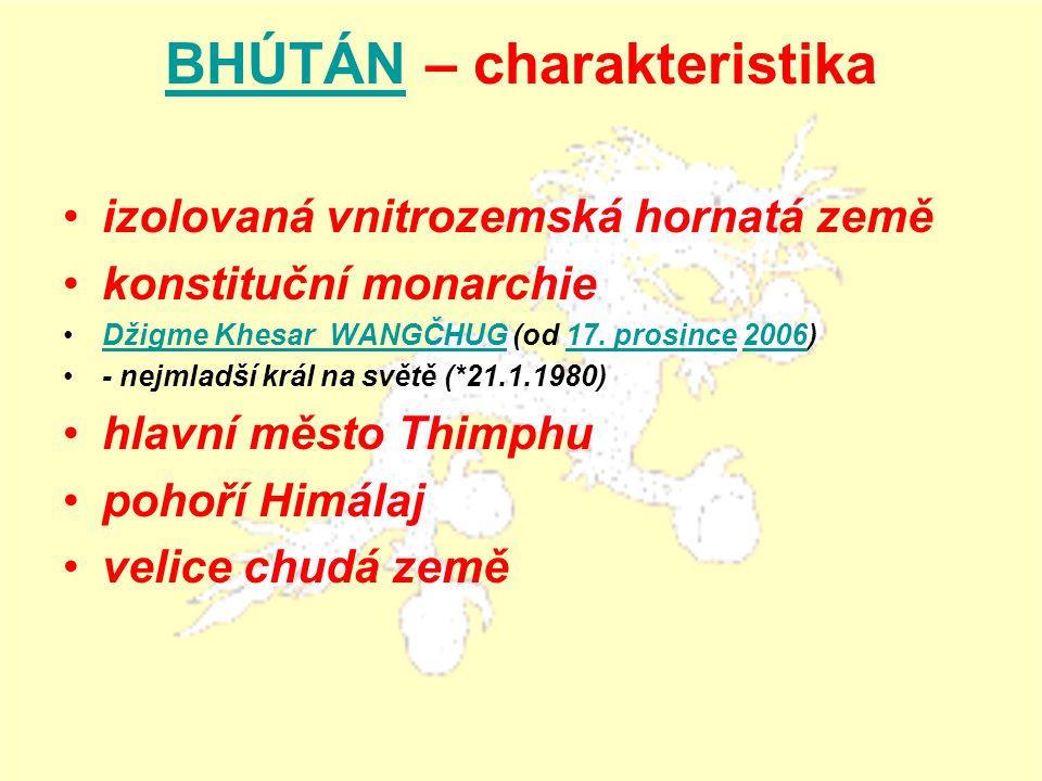 BHÚTÁN – charakteristika