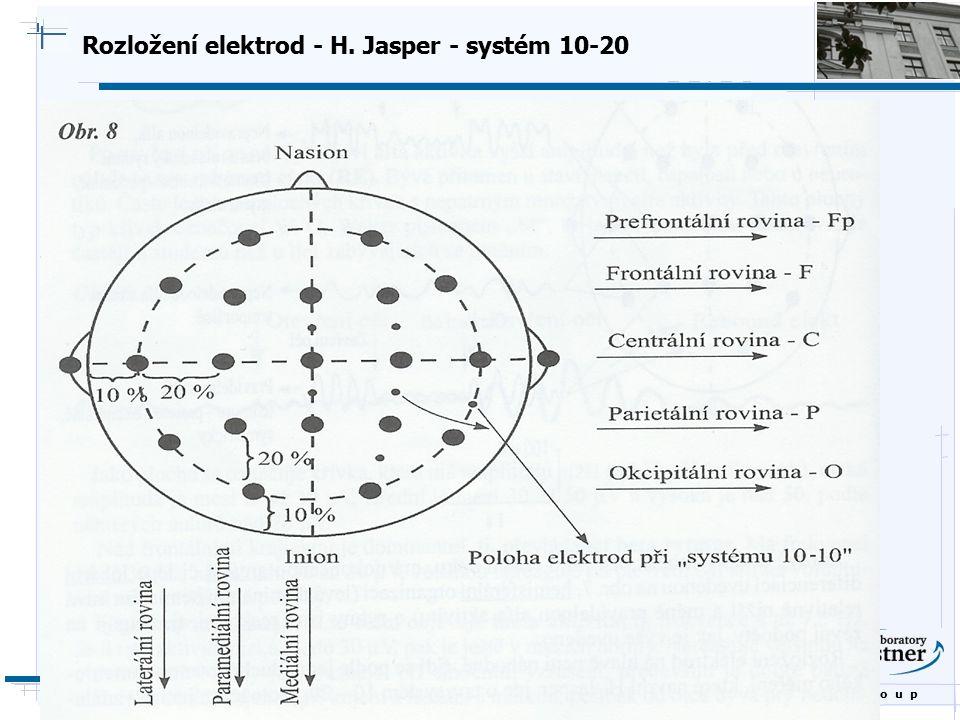 Rozložení elektrod - H. Jasper - systém 10-20