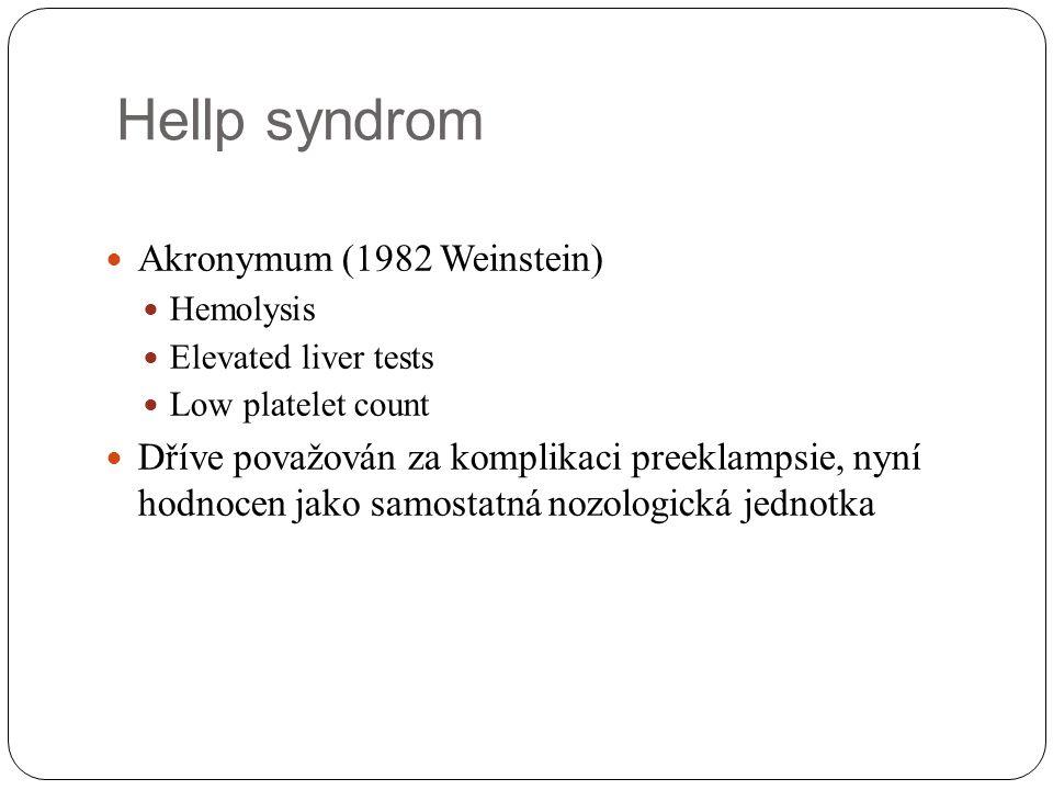 Hellp syndrom Akronymum (1982 Weinstein)