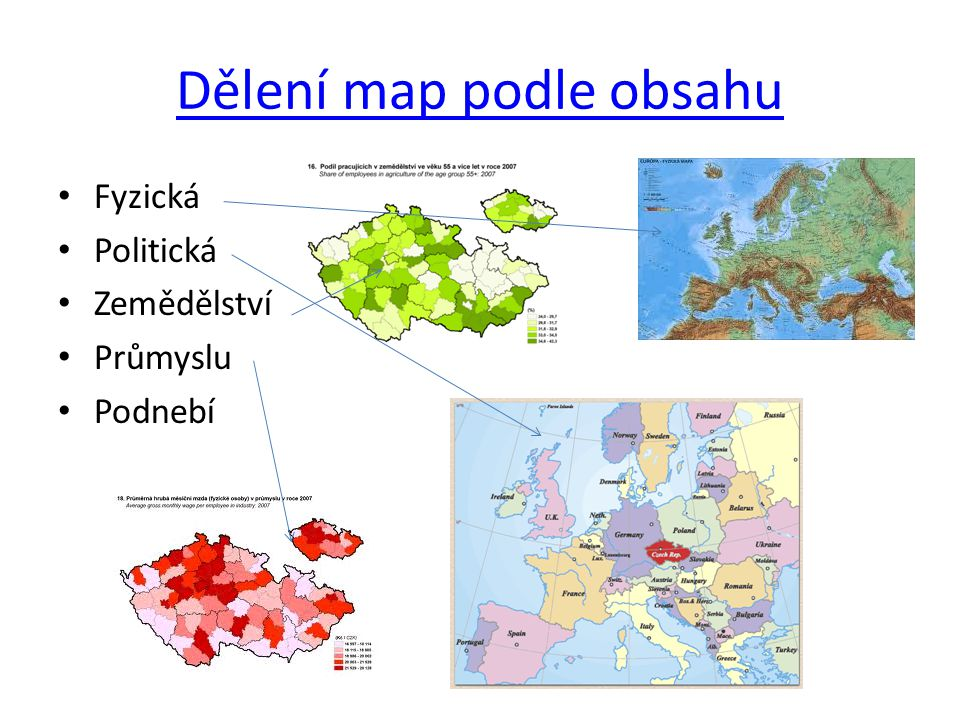 Dělení map podle obsahu