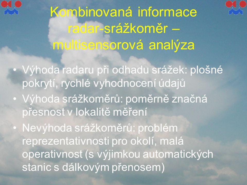 Kombinovaná informace radar-srážkoměr – multisensorová analýza
