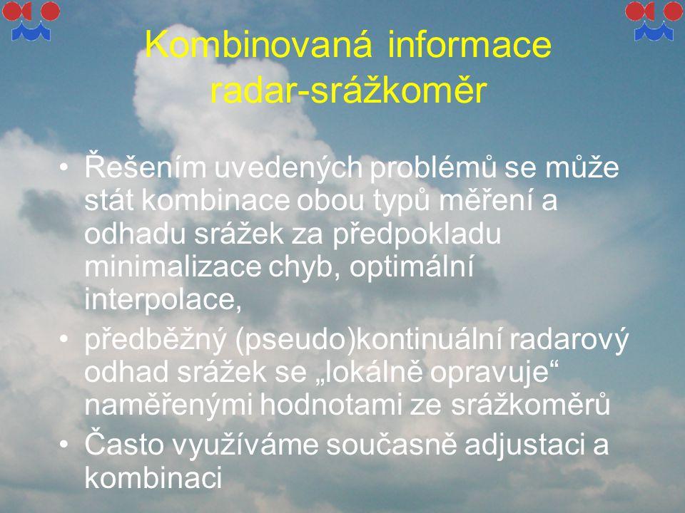 Kombinovaná informace radar-srážkoměr
