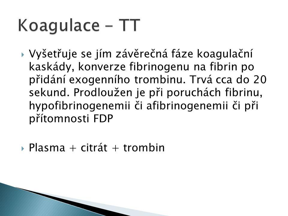 Koagulace - TT