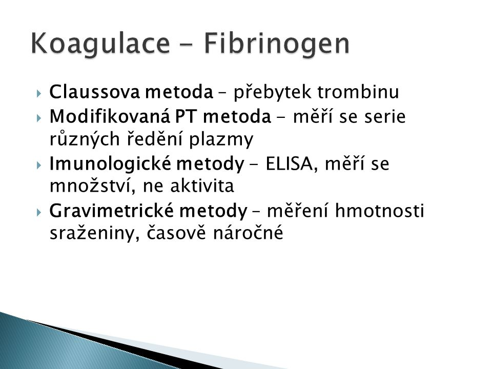 Koagulace - Fibrinogen