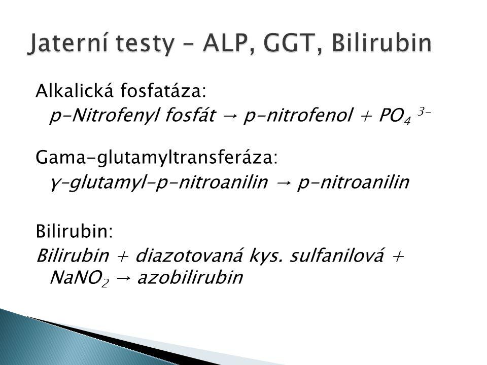 Jaterní testy – ALP, GGT, Bilirubin