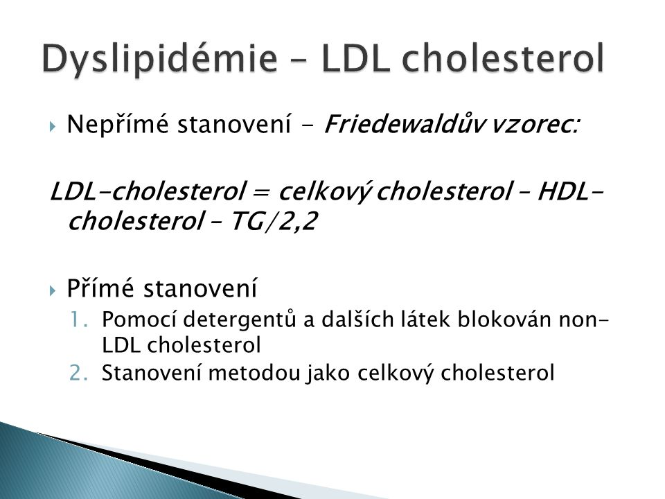 Dyslipidémie – LDL cholesterol
