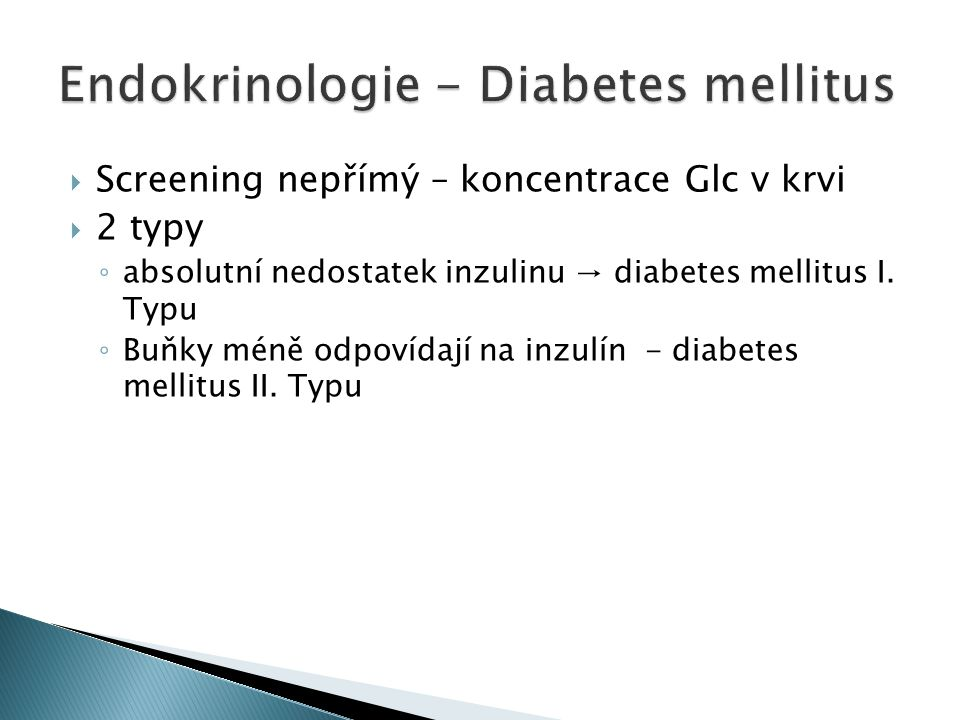Endokrinologie - Diabetes mellitus