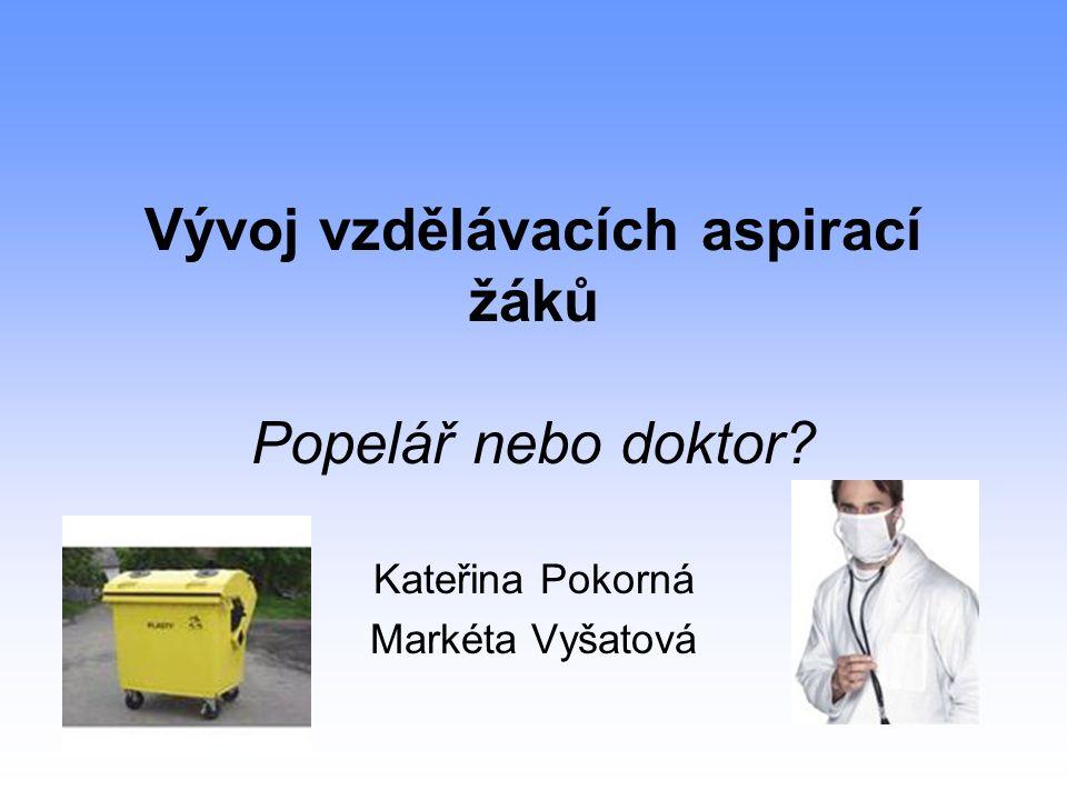 Vývoj vzdělávacích aspirací žáků Popelář nebo doktor