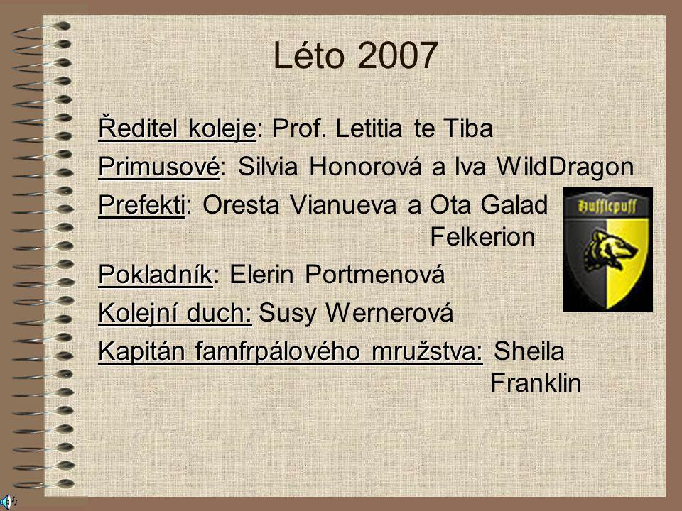 Léto 2007 Ředitel koleje: Prof. Letitia te Tiba