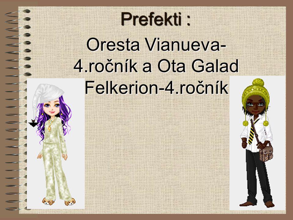 Oresta Vianueva-4.ročník a Ota Galad Felkerion-4.ročník