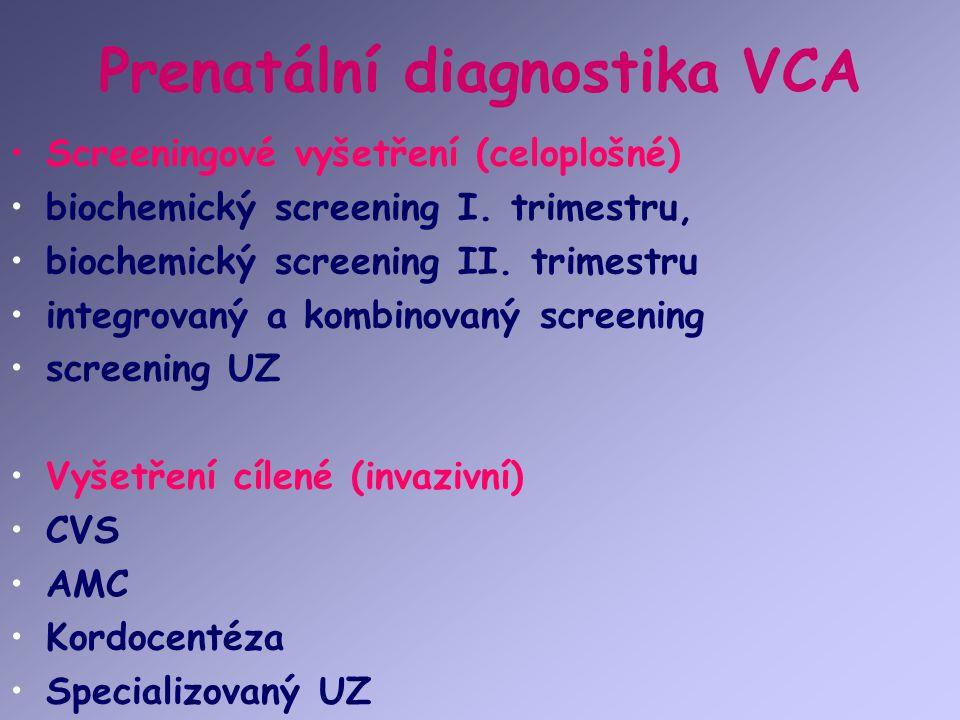 Prenatální diagnostika VCA
