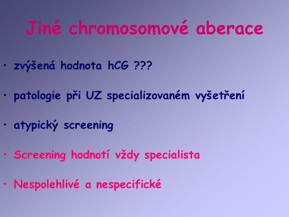 Jiné chromosomové aberace