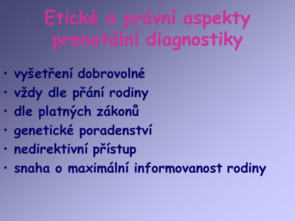 Etické a právní aspekty prenatální diagnostiky