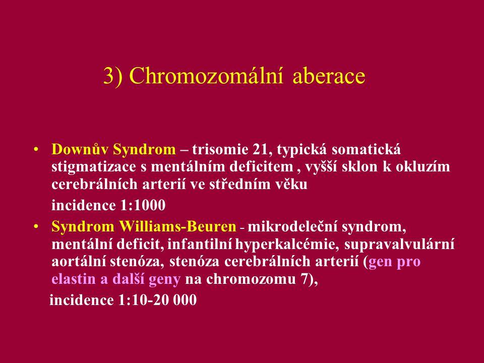 3) Chromozomální aberace