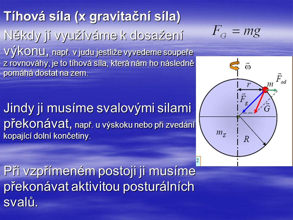 Tíhová síla (x gravitační síla)