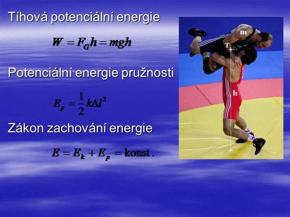 Tíhová potenciální energie Potenciální energie pružnosti Zákon zachování energie