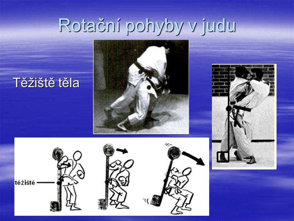 Rotační pohyby v judu Těžiště těla
