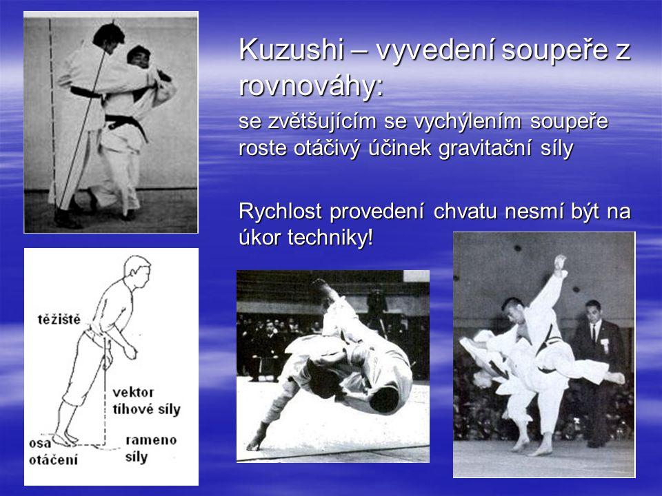 Kuzushi – vyvedení soupeře z rovnováhy: