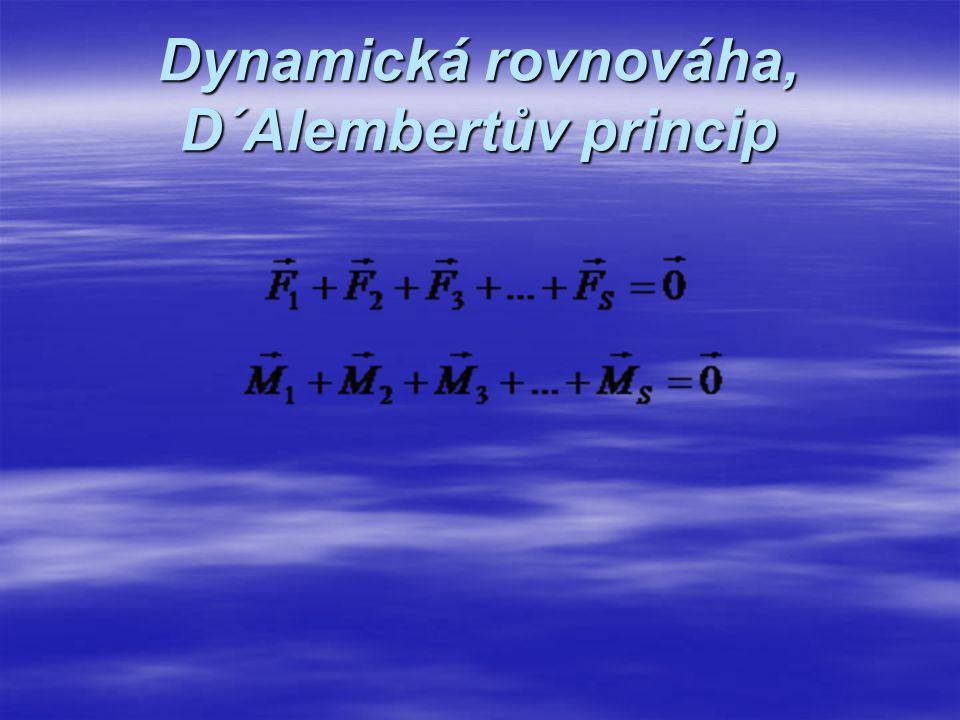 Dynamická rovnováha, D´Alembertův princip