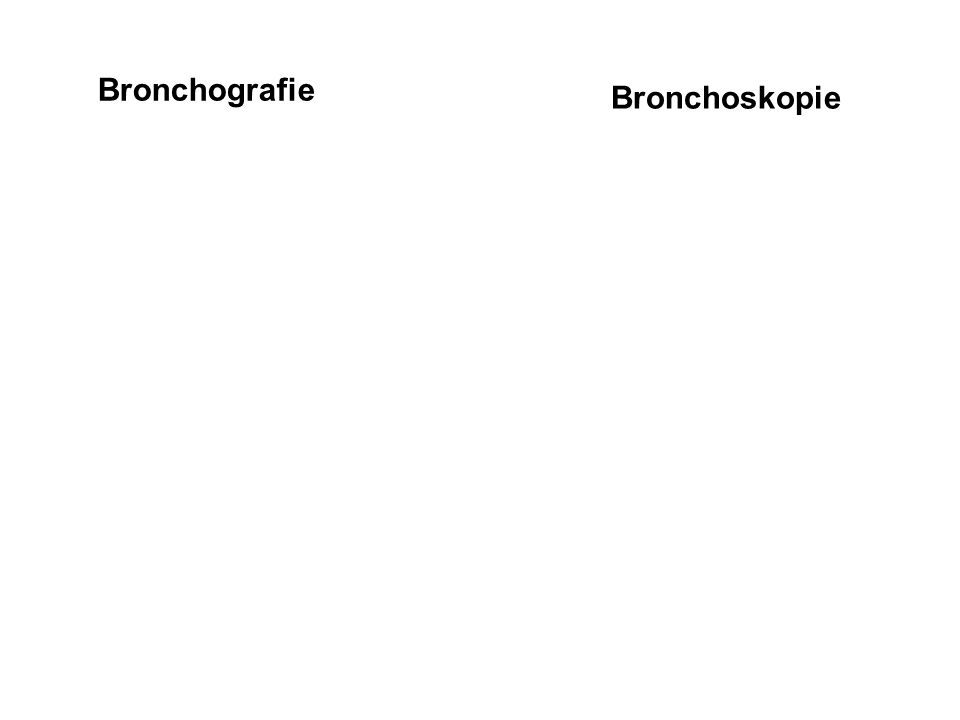 Bronchografie Bronchoskopie