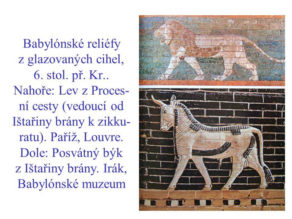 Babylónské reliéfy z glazovaných cihel, 6. stol. př. Kr