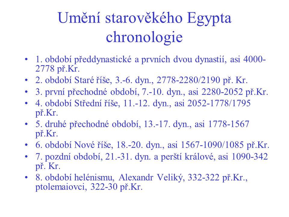 Umění starověkého Egypta chronologie