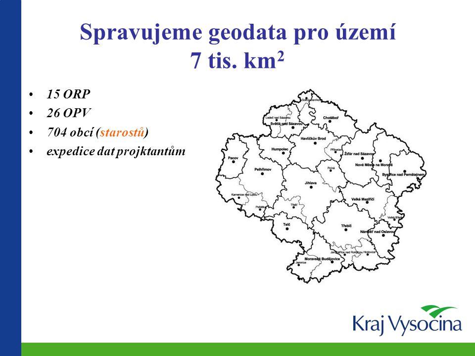 Spravujeme geodata pro území 7 tis. km2