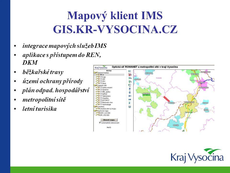 Mapový klient IMS GIS.KR-VYSOCINA.CZ