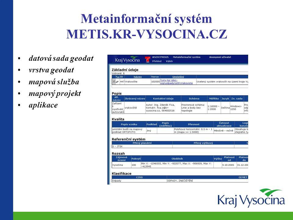 Metainformační systém METIS.KR-VYSOCINA.CZ