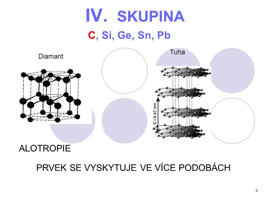 IV. SKUPINA C, Si, Ge, Sn, Pb ALOTROPIE