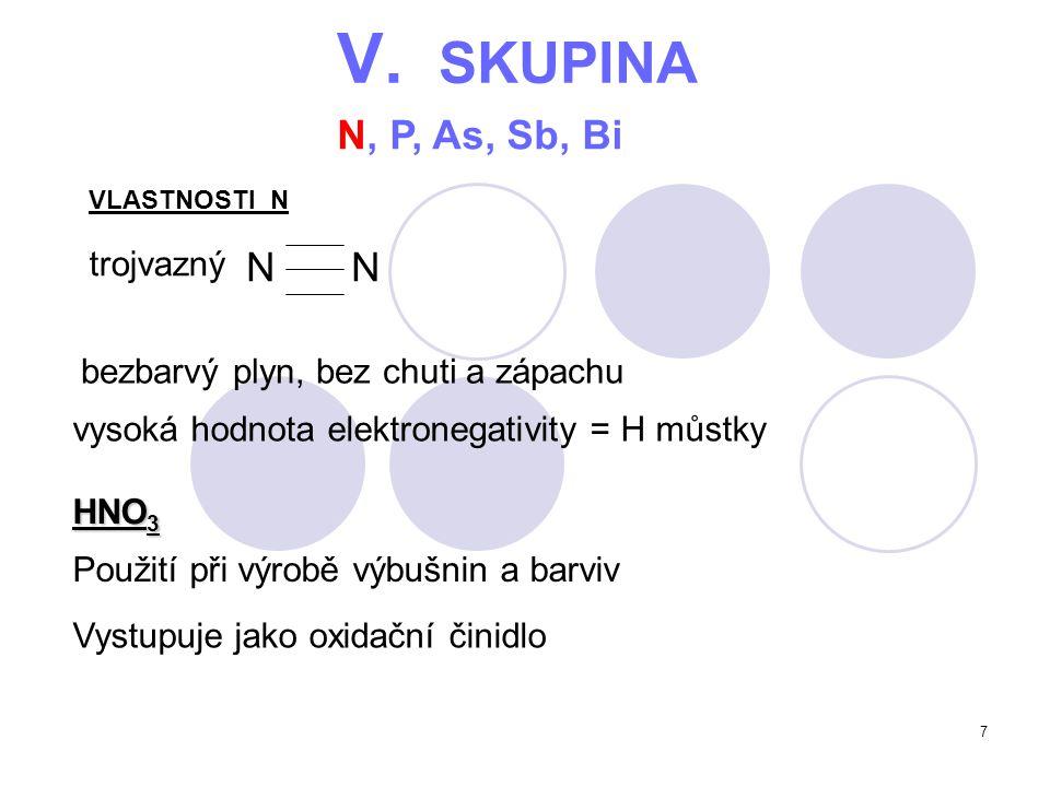 V. SKUPINA N, P, As, Sb, Bi N N trojvazný