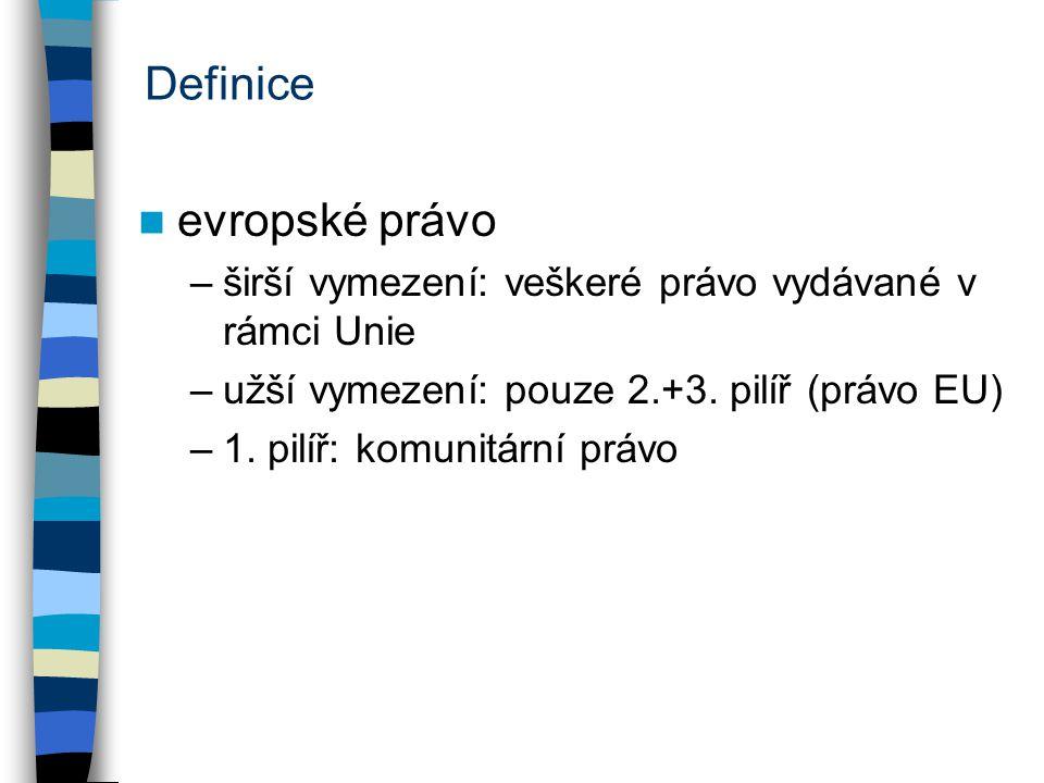 Definice evropské právo