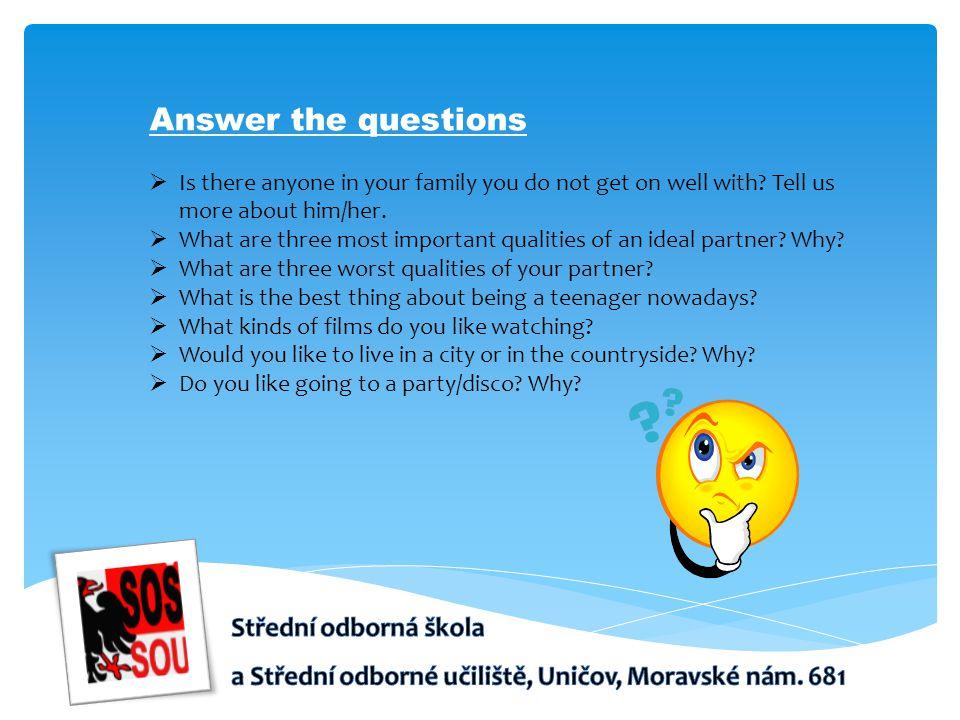 Answer the questions Střední odborná škola