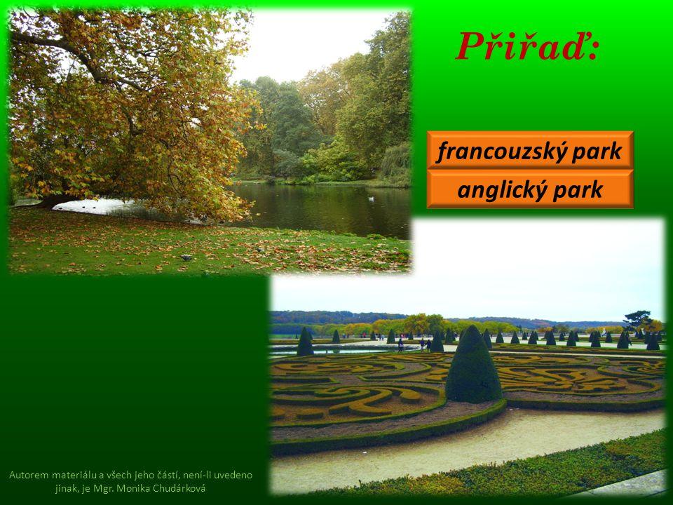 Přiřaď: francouzský park anglický park