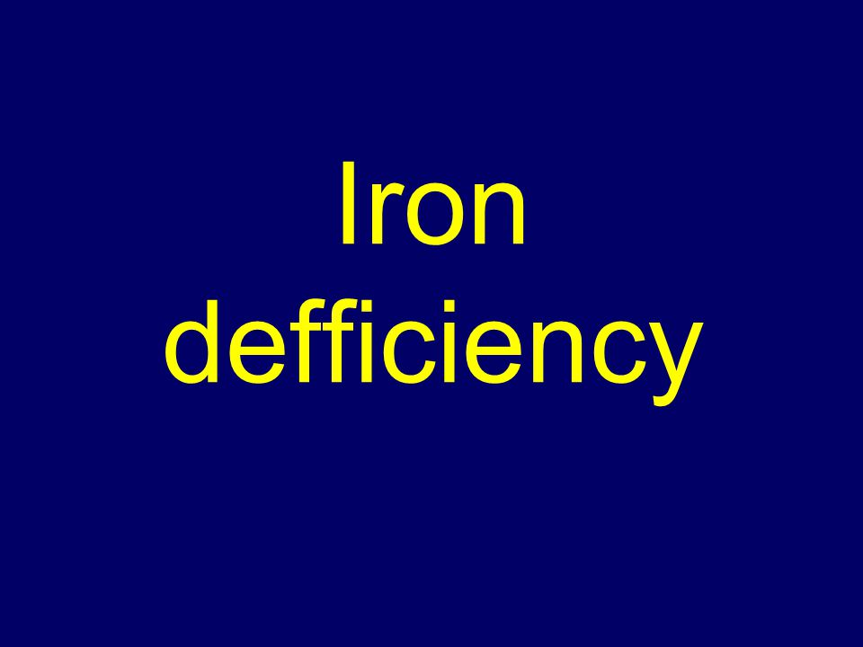 Iron defficiency