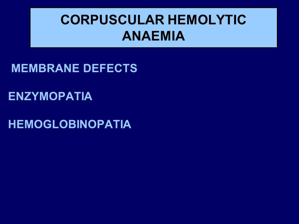 CORPUSCULAR HEMOLYTIC ANAEMIA