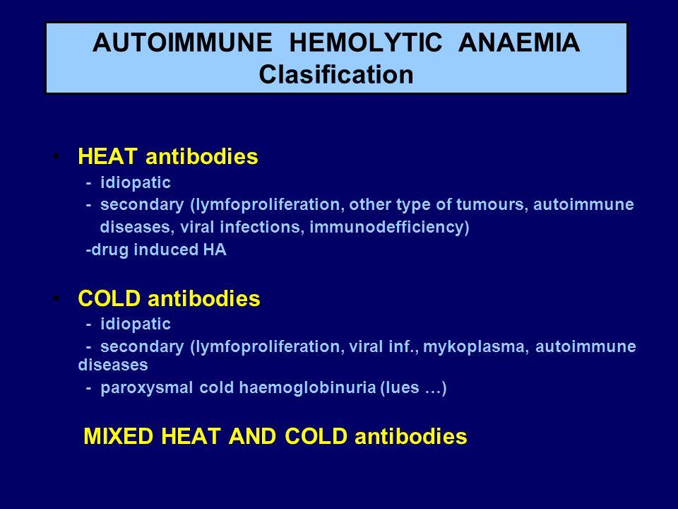 AUTOIMMUNE HEMOLYTIC ANAEMIA Clasification